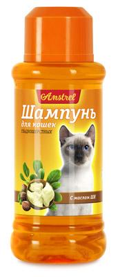 Шампунь Amstrel для кошек гладкошерстных с маслом ши