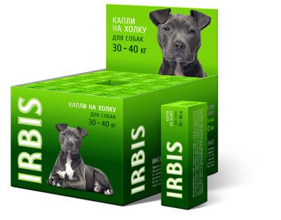 Капли инсектоакарицидные ИРБИС для собак от 30 до 40 кг