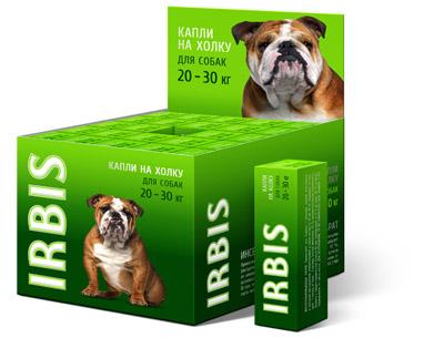 Капли инсектоакарицидные ИРБИС для собак от 20 до 30 кг