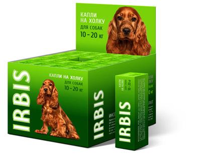 Капли инсектоакарицидные ИРБИС для собак от 10 до 20 кг