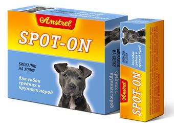Amstrel «Spot-on» для собак средних и крупных пород
