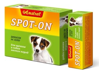 Amstrel «Spot-on» для щенков и собак мелких пород