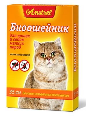 Биоошейник Amstrel оранжевый для кошек и мелких пород собак