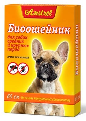 Биоошейник Amstrel оранжевый для собак  средних и крупных пород