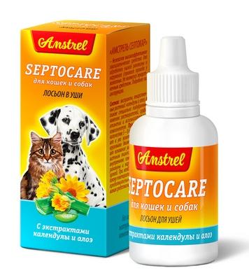Лосьон  для ушей Amstrel Septocare  для кошек и собак