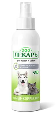 Спрей-корректор ЭКО ZOOЛЕКАРЬ приучение к туалету и лотку для кошек и собак
