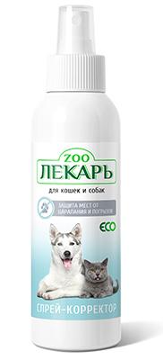 Спрей-корректор ЭКО ZООЛЕКАРЬ защита мест от царапанья и погрызов для кошек и собак.