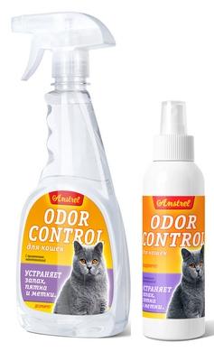 Средство Amstrel  Оdor Control  для устранения запахов, пятен и меток для кошек, с ароматом  (дезодорирует)
