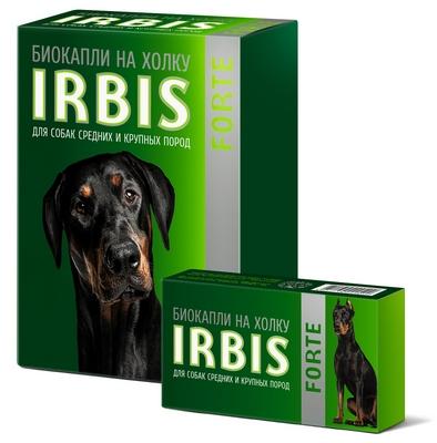 Биокапли на холку IRBIS FORTE для собак средних и крупных пород