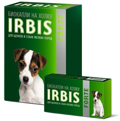 Биокапли на холку IRBIS FORTE для щенков и собак мелких пород
