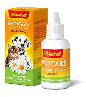 Лосьон  для глаз Amstrel Opticare для кошек и собак