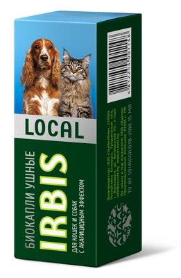 Биокапли ушные IRBIS LOCAL для кошек и собак
