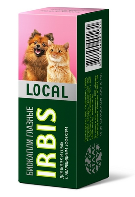 Биокапли глазные IRBIS LOCAL для кошек и собак