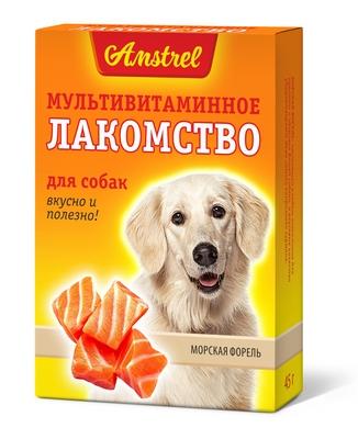 Мультивитаминное лакомство Amstrel для собак со вкусом морской форели<