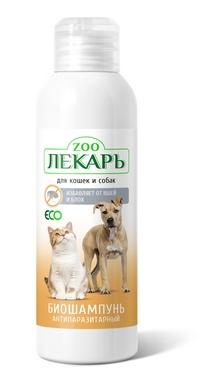 Биошампунь ЭКО ZООЛЕКАРЬ антипаразитарный  для кошек и собак