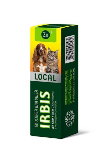 Биоспрей для ушей IRBIS LOCAL для кошек и собак