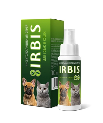 Спрей инсектоакарицидный для кошек и собак «ИРБИС»